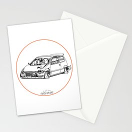 Crazy Car Art 0211 Stationery Cards