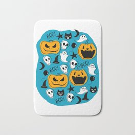 Halloween Creatures Bath Mat