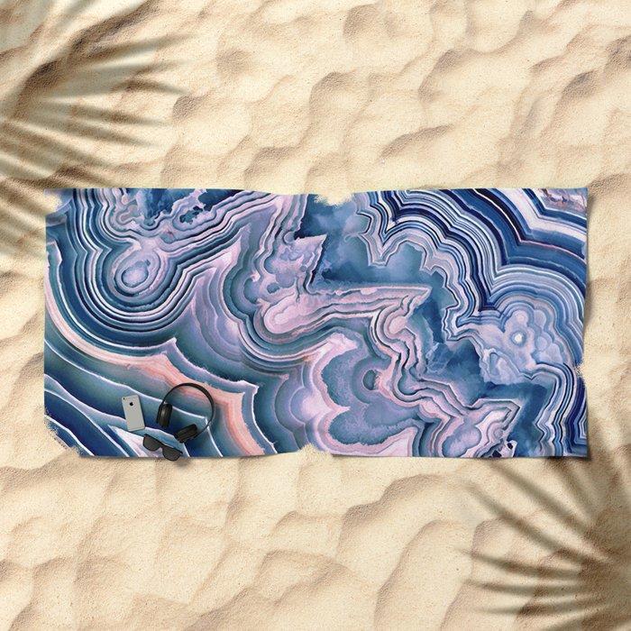 Agate ornaments Beach Towel
