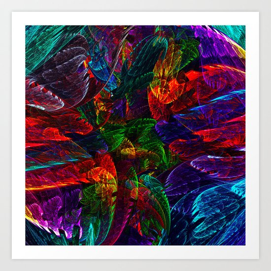 Bright Colored Leaves Art Print