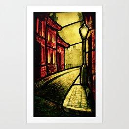 Lamplight Street Art Print