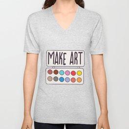 Make Art Pallet Unisex V-Neck