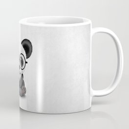 Cute Panda Bear Cub with Eye Glasses Coffee Mug