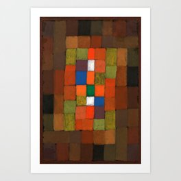 Paul Klee - Digital Remastered Edition - gradation of static and dynamic Art Print