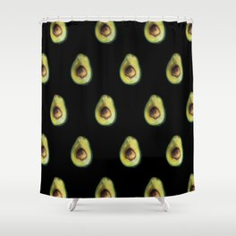 Avocado Painting by Brooke Figer Shower Curtain
