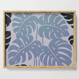 PLANTS - philodendron#3_Grey Serving Tray
