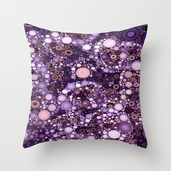 :: Purple Cow :: Throw Pillow