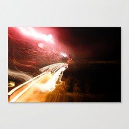 Shooting Lights Canvas Print