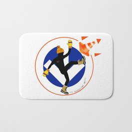 Winter is Here Montreal city represent Skip the Construction with the Subway | Orange and Blue Colors  Bath Mat