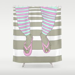Flip Flops Shower Curtains