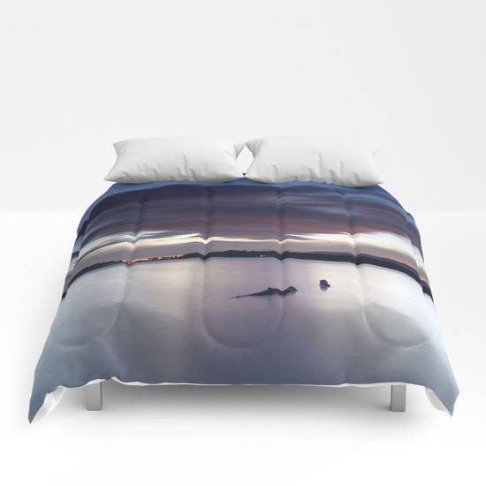 """Night dreams..."" At the lake... Comforters"