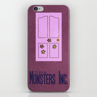 monsters inc iPhone & iPod Skins featuring Monsters Inc. by Matt Bacon