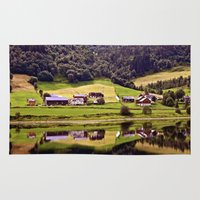 norway Area & Throw Rugs featuring Norway Reflections by Giulia Photos
