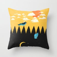 Day vs Night Throw Pillow