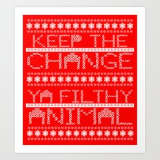 Keep the Change Christmas Sweater RonkyTonk Art Print