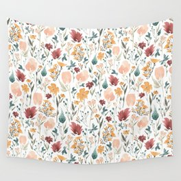 Deep Florals Wall Tapestry