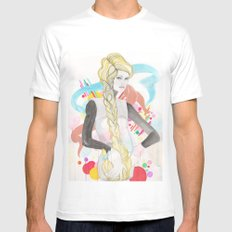 Angie White SMALL Mens Fitted Tee