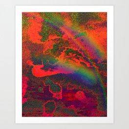 Rainbows on Mars Art Print