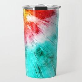 Colorful Tie Dye Travel Mug