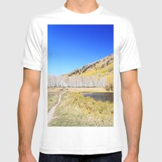 Mountain Lake Mens Fitted Tee White MEDIUM
