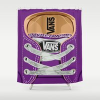 vans Shower Curtains featuring Cute Purple Vans all star baby shoes apple iPhone 4 4s 5 5s 5c, ipod, ipad, pillow case and tshirt by Three Second