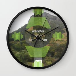 Wonder With Conviction Wall Clock