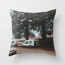 In a little town in Oregon Throw Pillow