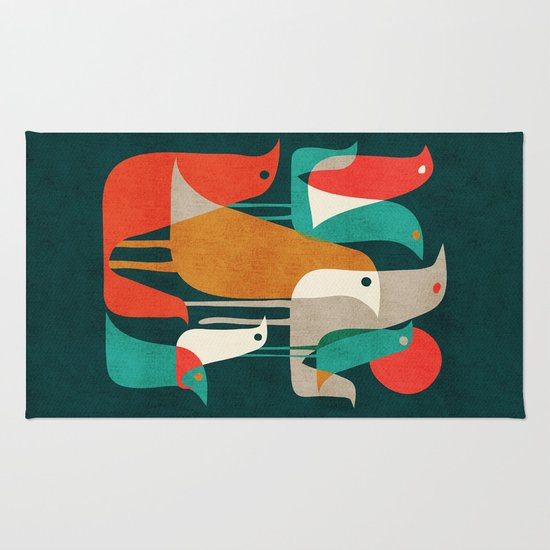 Flock of Birds Rug