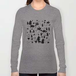 Cow Out In the Pasture by Lorloves Design Long Sleeve T-shirt