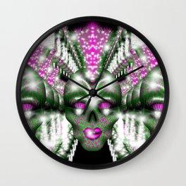Mowhawk Skull 2 Wall Clock