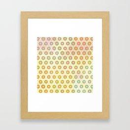 Star Dots Framed Art Print