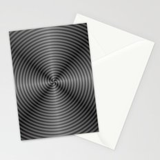 Spiral Quartered in Monochrome Stationery Cards