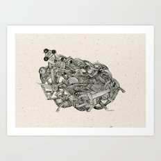 - dark world - Art Print