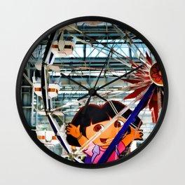 El Circulo de Cielo Ferris Wheel Wall Clock