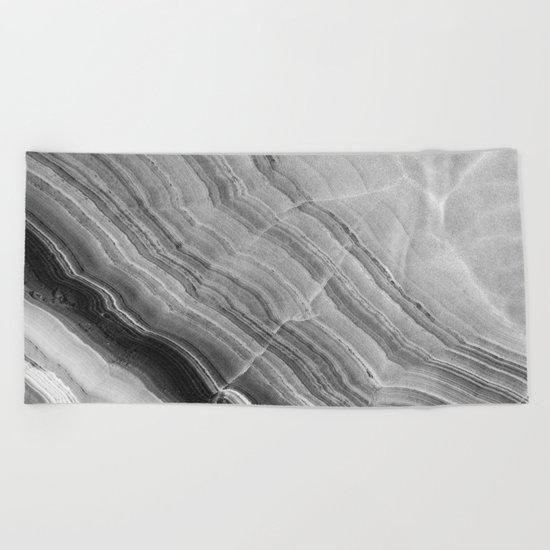 Shades of grey marble Beach Towel