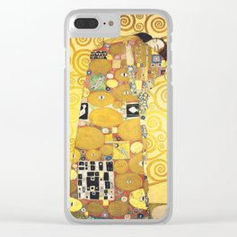 Gustav Klimt - The Embrace - Die Umarmung - Vienna Secession Painting Clear iPhone Case