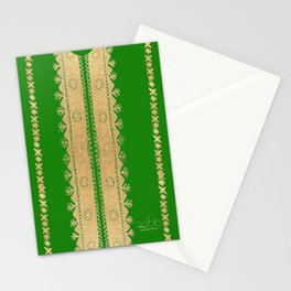 Thoub Nashil - Green  Stationery Cards