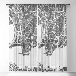 Street MAP Hong Kong // Black&White Sheer Curtain