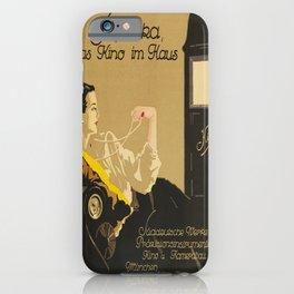 süpräka, das kino im haus. 1920  oude poster iPhone Case