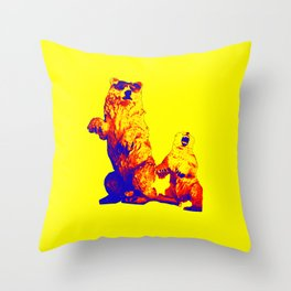 Ours Republique yellow Throw Pillow