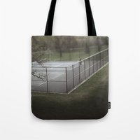 tennis Tote Bags featuring Tennis by James Lyle
