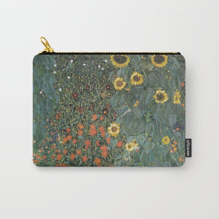 Gustav Klimt - Farm Garden with Sunflowers Carry-All Pouch