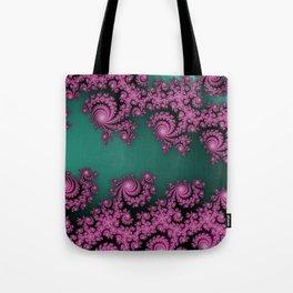 Fractal in Dark Pink and Green Tote Bag