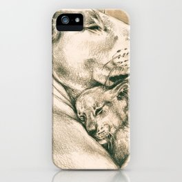 Lioness And The Cub iPhone Case