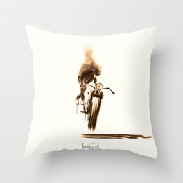 Miss moody Throw Pillow