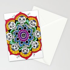 mandalavera de colores Stationery Cards