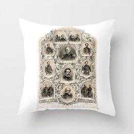 Our Generals -- Union Civil War Throw Pillow