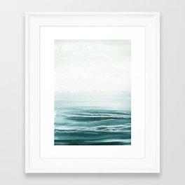 hazy emerald sea Framed Art Print