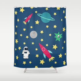 Space Objective Shower Curtain