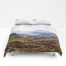 View of Glen Etive from Glencoe, Scotland Comforters